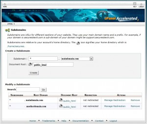 WordPress MultiSite - Add a wilcard subdomain in cPanel