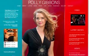 Polly Gibbons - Desktop Site